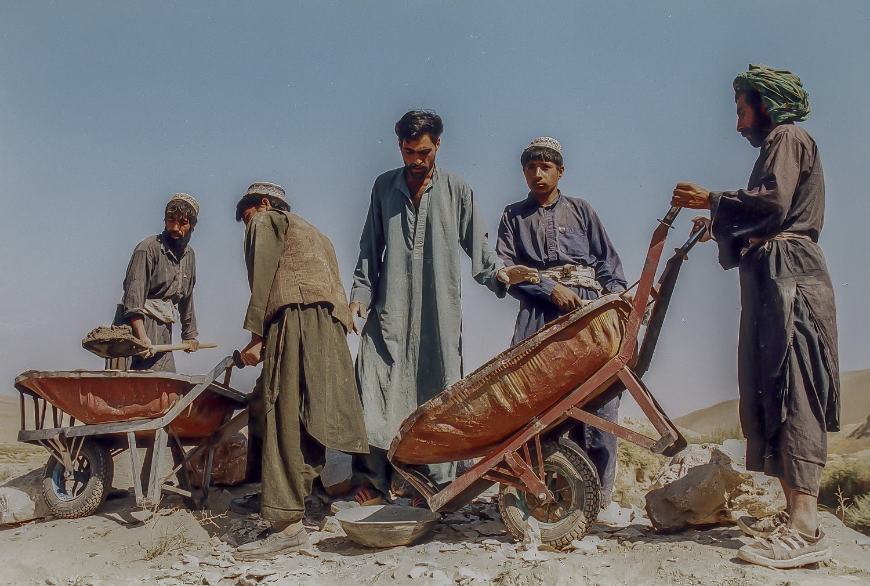 irrigation system province Kunduz, worker